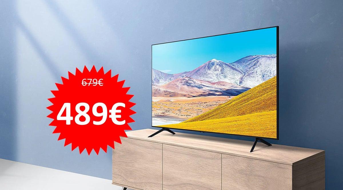 Televisor de 55 pulgadas Samsung Crystal 55TU8005 barato. Ofertas en televisores, televisores baratos,chollo
