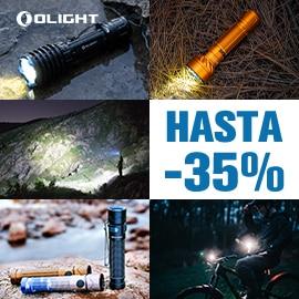 Venta Flash en linternas Olight, linternas baratas, ofertas en linternas