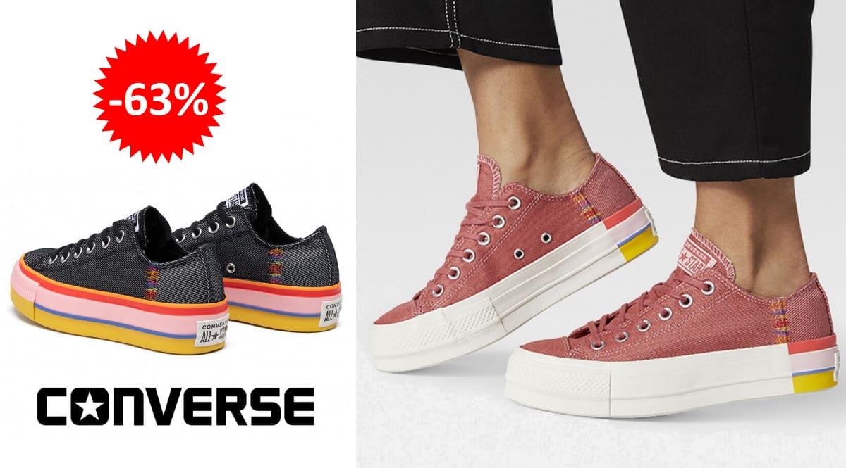 Zapatillas Converse Chuck Taylor All Star Lift baratas, calzado de marca barato, ofertas en zapatillas chollo1