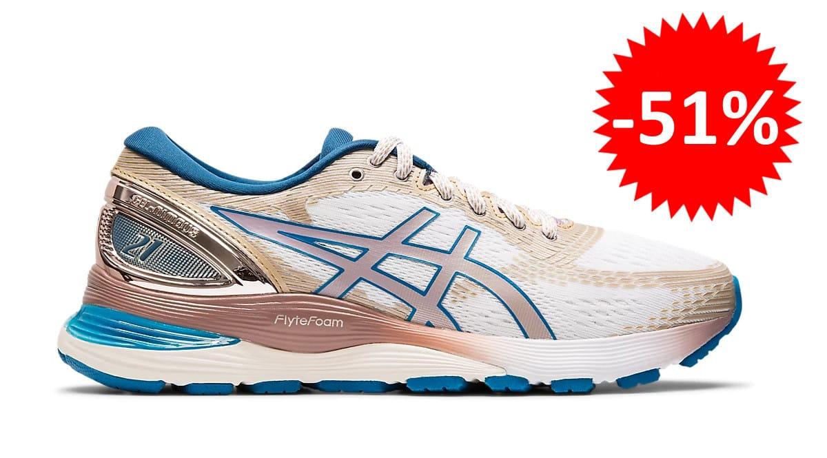 Zapatillas de running Asics Gel-Nimbus 21 para mujer baratas. Ofertas en zapatillas de running, zapatillas de running baratas, chollo