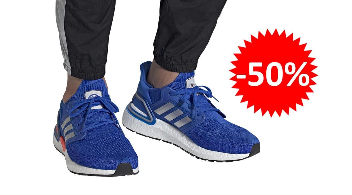 Zapatillas de running de hombre Adidas UltraBoost 20 baratas. Ofertas en zapatillas de running, zapatillas de running baratas, chollo