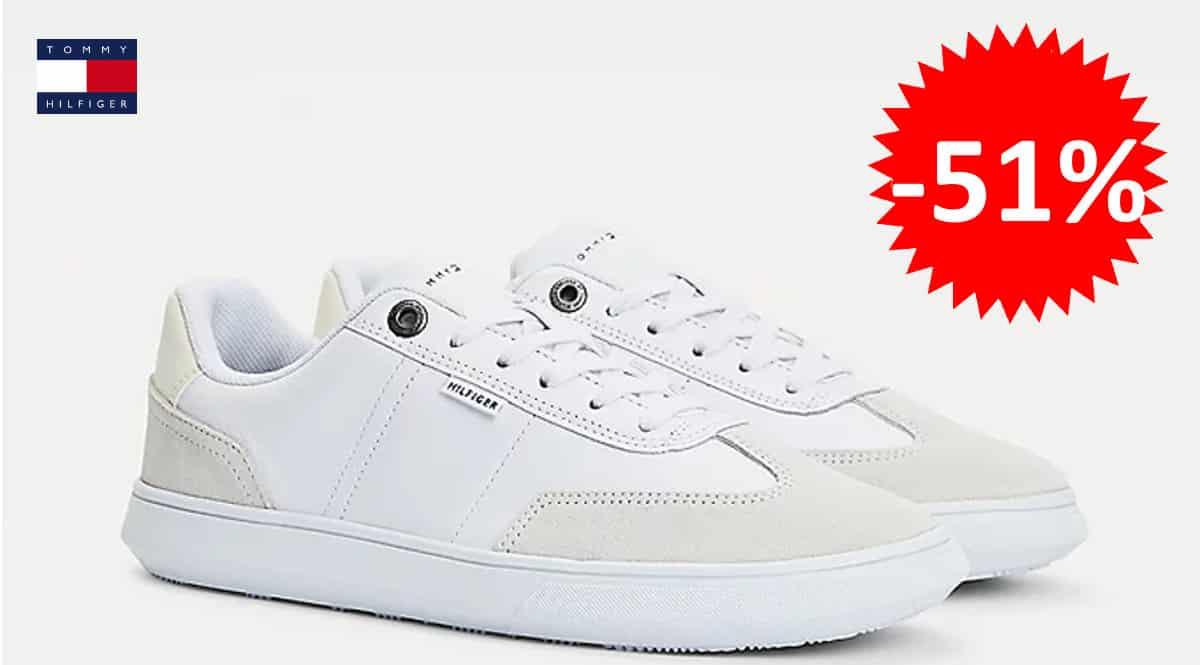 Zapatillas para hombre Tommy Hilfiger Seasonal Leather Mix baratas, zapatillas de marca baratas, ofertas en calzado, chollo