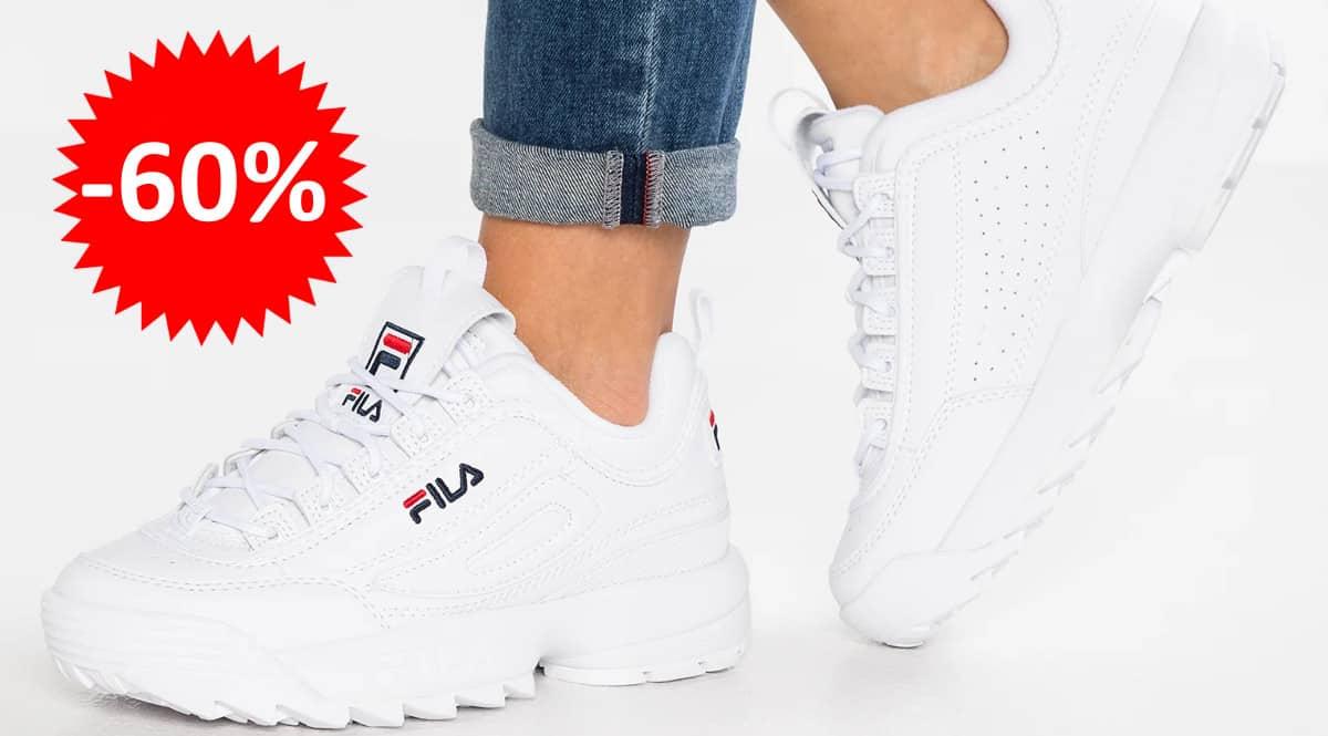¡Precio mínimo histórico! Zapatillas para mujer Fila Disruptor Low sólo 39.95 euros. 60% de descuento.