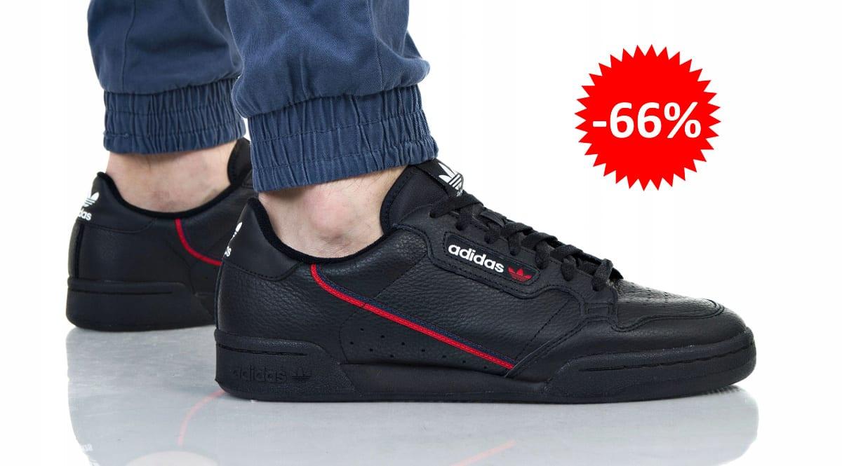 Zapatillas unisex Adidas Continental 80 negras baratas, calzado de marca barato, ofertas en zapatillas chollo