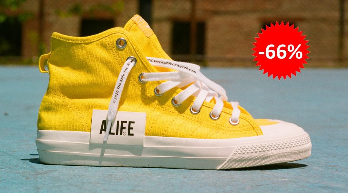 Zapatillas unisex Adidas Nizza x Alife baratas, calzado de marca barato, ofertas en zapatillas chollo