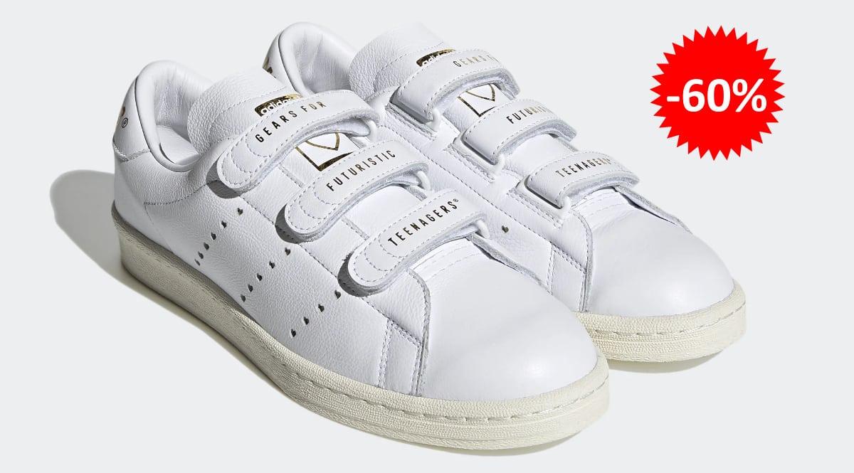 Zapatillas unisex Adidas UNOFCL x Human Made blancas baratas, calzado de marca barato, ofertas en zapatillas chollo