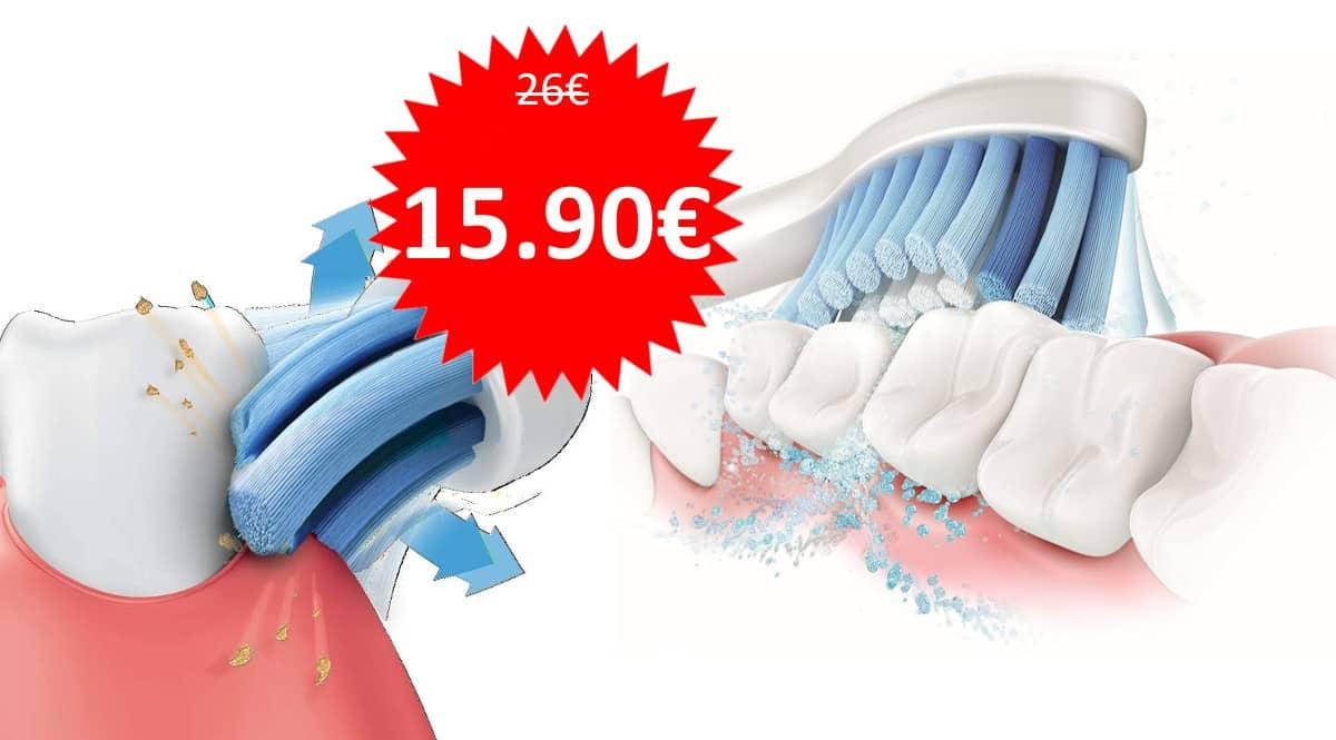 4 recambios para cepillo de dientes eléctrico Philips Sonicare baratos. Ofertas en cabezales Philips, cabezales Philips baratos, chollo