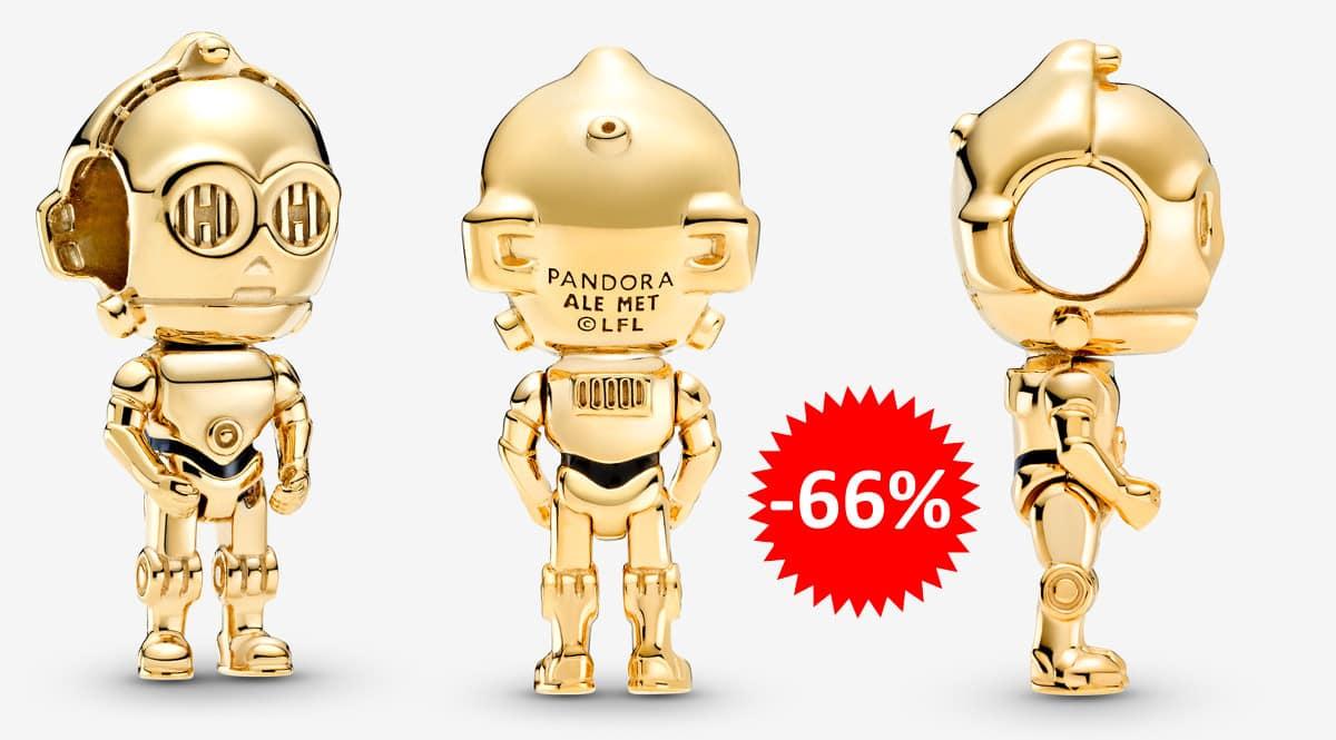 ¡Precio mínimo histórico! Abalorio Pandora Star Wars C-3PO sólo 27 euros. 66% de descuento.