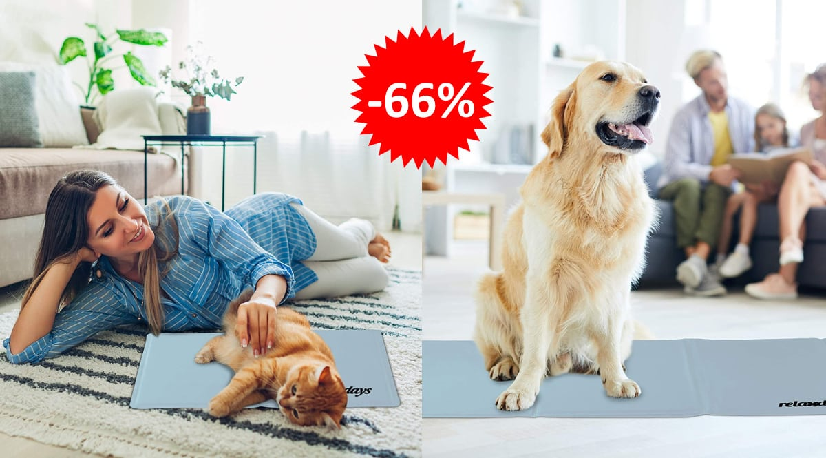 Alfombra refrescante Relaxdays para mascotas barata, productos para mascotas baratos, ofertas para mascotas chollo