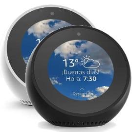 ¡¡Chollo!! Reloj despertador Amazon Echo Spot sólo 74.99 euros. Ahórrate 55 euros. En negro y en blanco.
