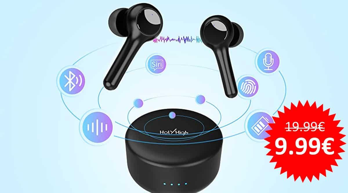 ¡Código descuento! Auriculares Bluetooth HolyHigh V10 sólo 9.99 euros. 50% de descuento.