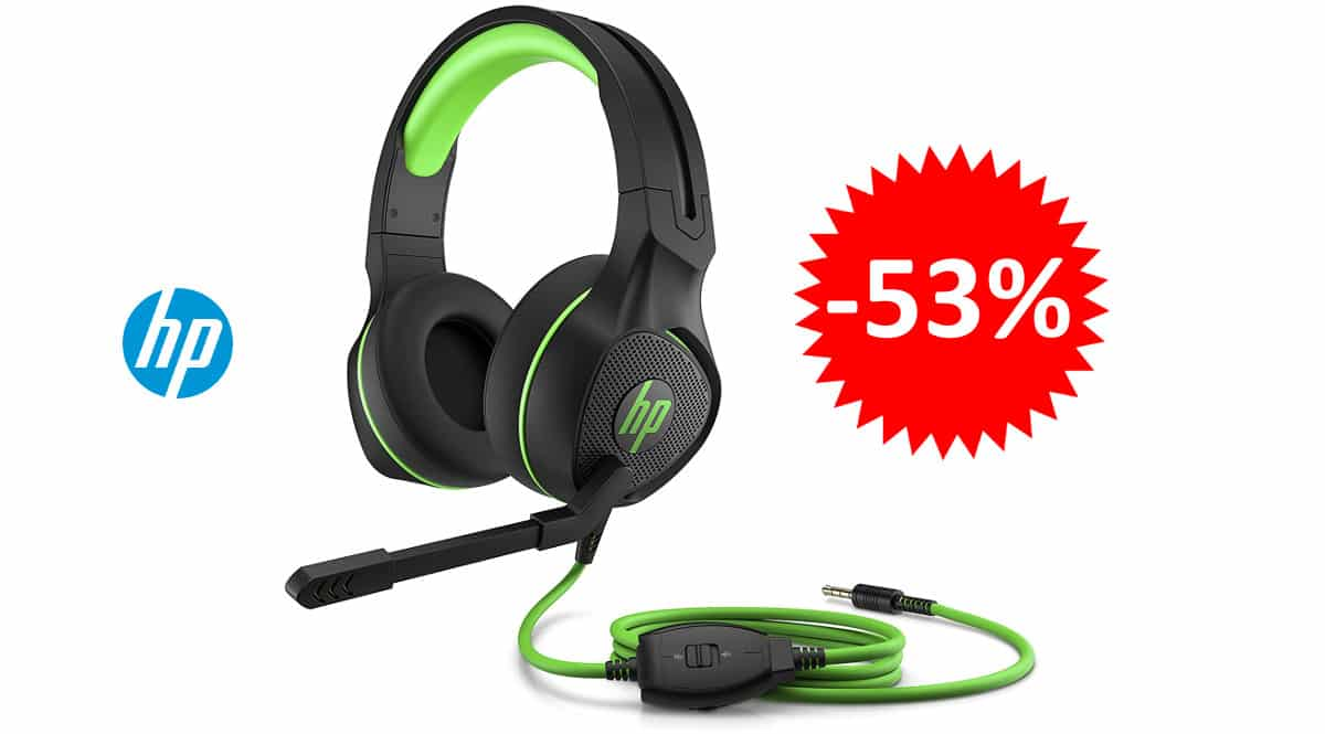 ¡Precio mínimo histórico! Auriculares gaming HP Pavilion 400 sólo 18.86 euros. 53% de descuento.