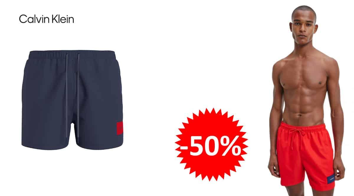 Bañador Calvin Klein Medium Drawstring barato, bañadores de marca baratos, ofertas en ropa, chollo