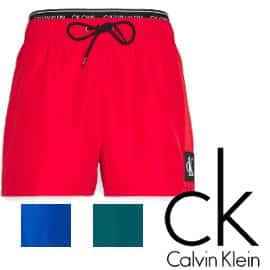 Bañador corto Calvin Klein Double One barato, bañadores de marca baratos, ofertas en ropa