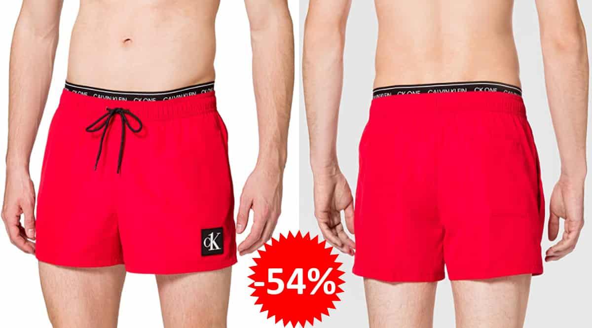 Bañador corto Calvin Klein Double One barato, bañadores de marca baratos, ofertas en ropa, chollo