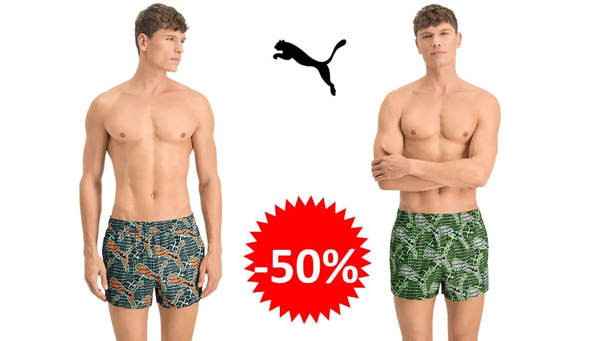 Bañador para hombre Puma Swim Men's Cat Logo barata, bañadores de marca baratos, ofertas en ropa, chollo