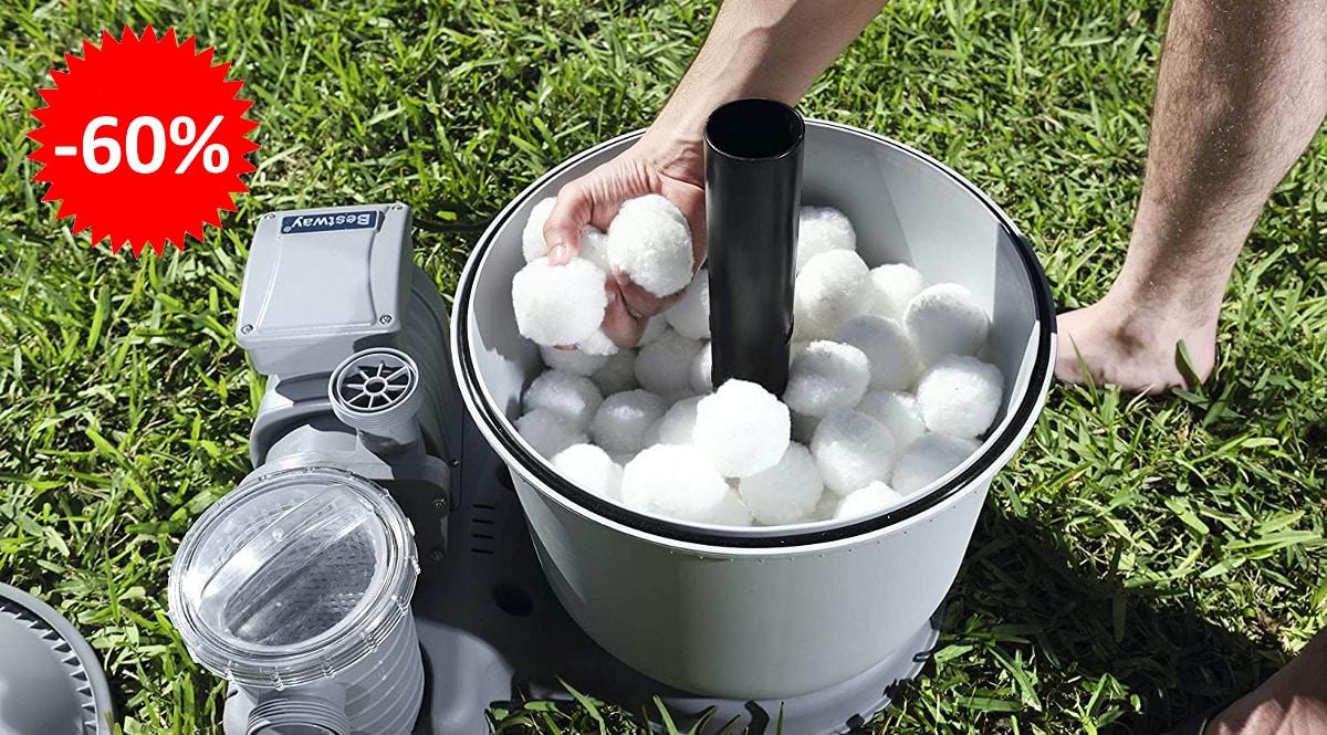 Bolas de filtración reutilizables para depuradoras de arena Bestway baratas, productos para piscina baratos, ofertas para la casa chollo
