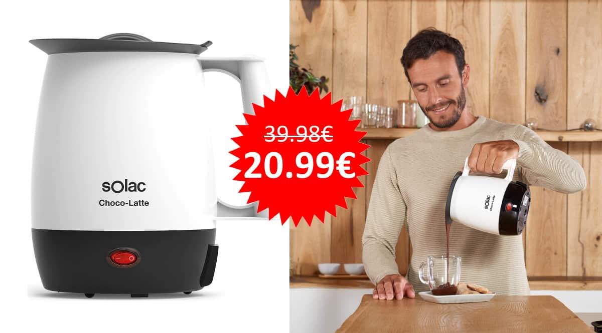 ¡Precio mínimo histórico! Calienta leche Solac MH9100 Choco-latte sólo 20.99 euros. Mitad de precio.