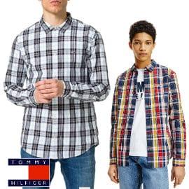 Camisa Tommy Jeans Seasonal Check barata, camisas de marca baratas, ofertas en ropa