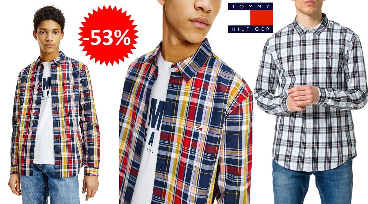 Camisa Tommy-Jeans-Seasonal--barata-camisas-de-marca-baratas-ofertas-en-ropa-chollo