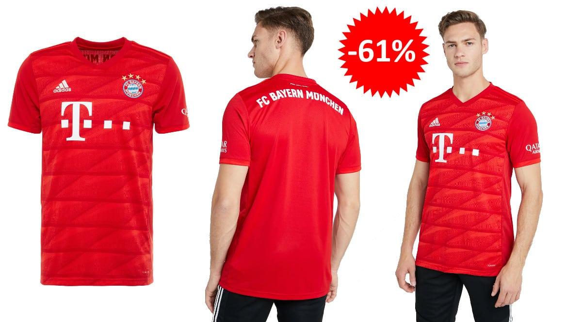 ¡¡Chollo!! Camiseta Adidas Bayern de Múnich sólo 35 euros. 61% de descuento.