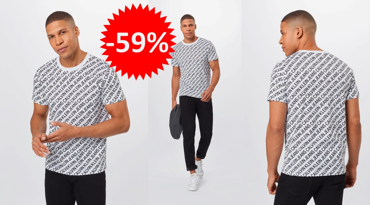 Camiseta Calvin Klein AOP Diagonal barata, camisetas de marca baratas, ofertas en ropa, chollo