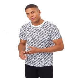 Camiseta Calvin Klein AOP Diagonal barata, camisetas de marca baratas, ofertas en ropa
