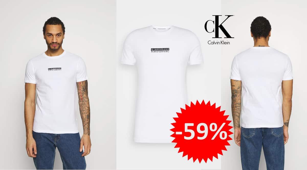 Camiseta Calvin Klein Mirror Logo Slim Fit barata, camisetas de marca baratas, ofertas en ropa, chollo