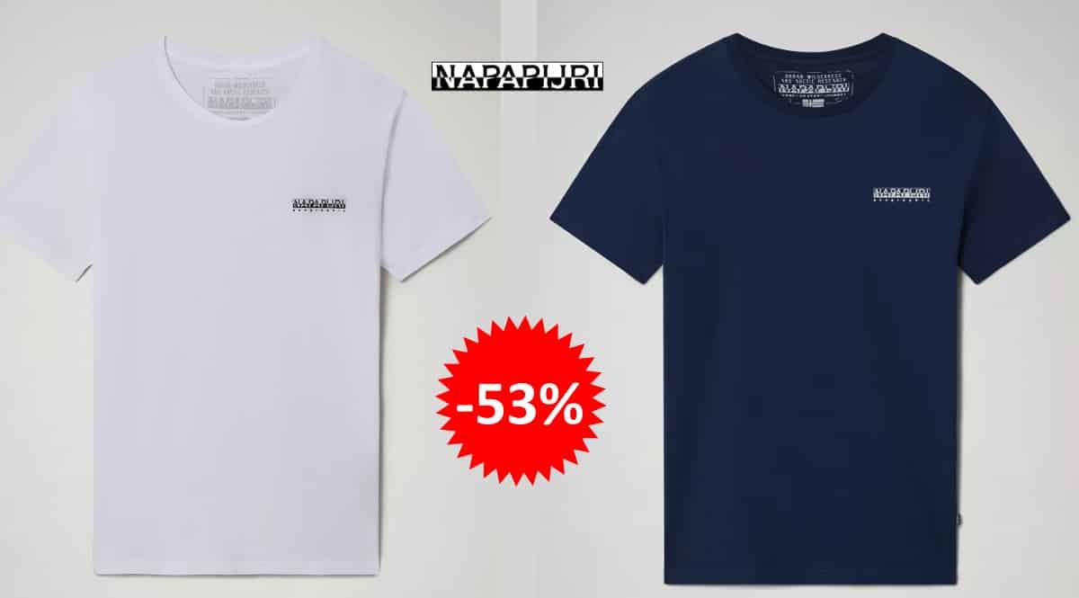 Camiseta Napapijri Salisario barata, ropa de marca barata, ofertas en camisetas chollo