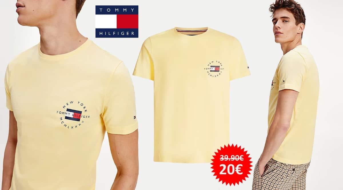 Camiseta Tommy Hilfiger Circle Chest Corp barata, camisetas de marca baratas, ofertas en ropa, chollo