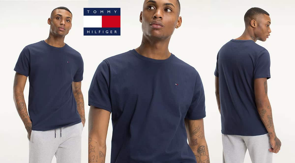 Camiseta Tommy Jeans regular barata, camisetas de marca baratas, ofertas en ropa, chollo