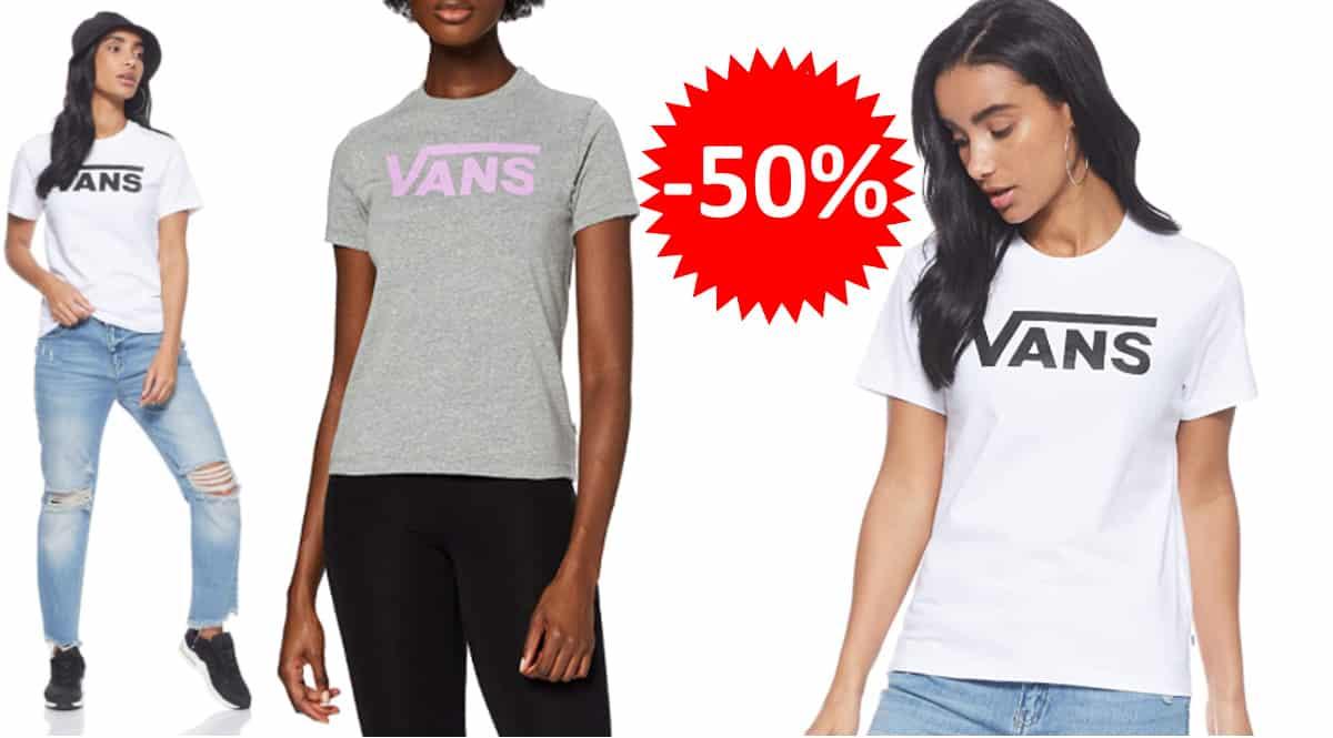 Camiseta Vans Flying V Crew barata, camisetas de marca baratas, ofertas en ropa, chollo