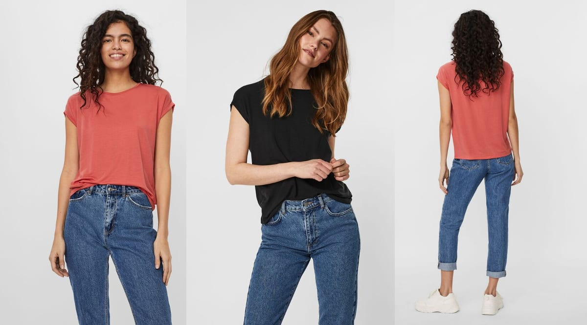 Camiseta Vero Moda Vmava barata, camisetas de marca baratas, ofertas en ropa, chollo
