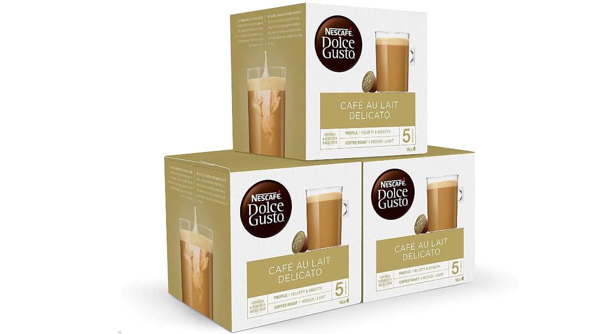 Cápsulas Nescafé Dolce Gusto café con leche delicato baratas, cápsulas de café baratas, ofertas supermercado, chollo