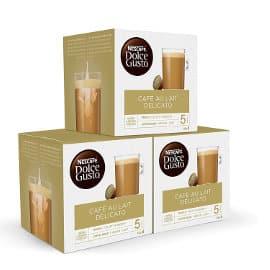 Cápsulas Nescafé Dolce Gusto café con leche delicato baratas, cápsulas de café baratas, ofertas supermercado