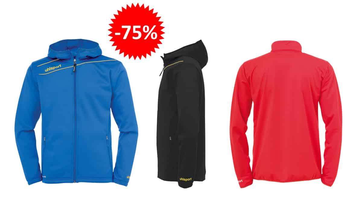 Chaqueta con capucha Uhlsport Stream 3.0 barata, ropa de marca barata, ofertas en chaquetas chollo
