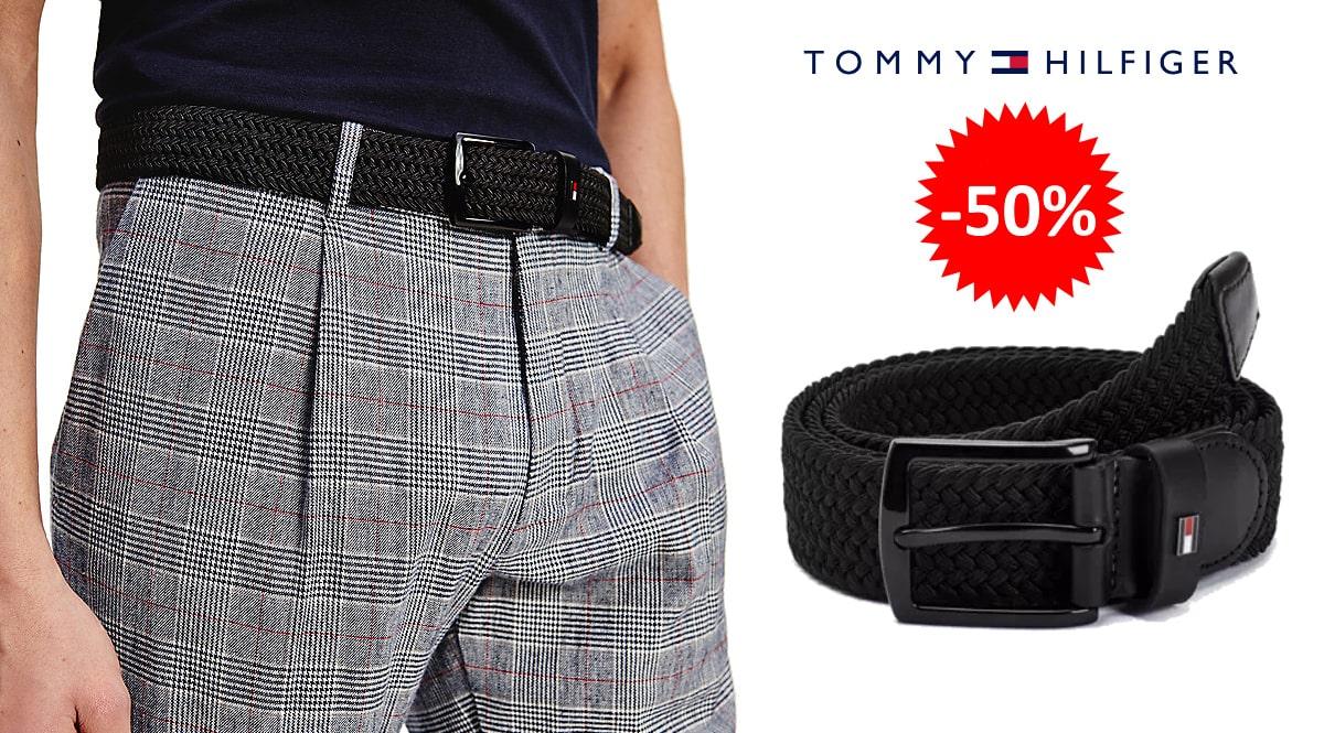 Cinturón elástico Tommy Hilfiger Denton barato, complementos baratos, ofertas en cinturones chollo