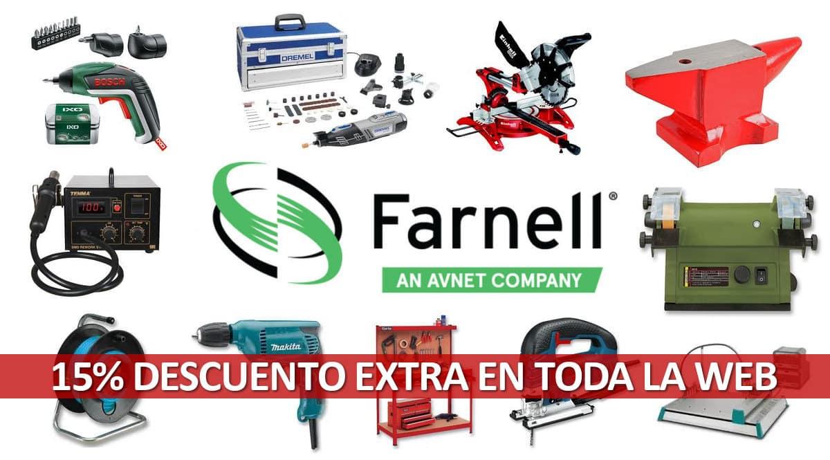 Código descuento exclusivo en Farnell, herramientas baratas, ofertas en herramientas