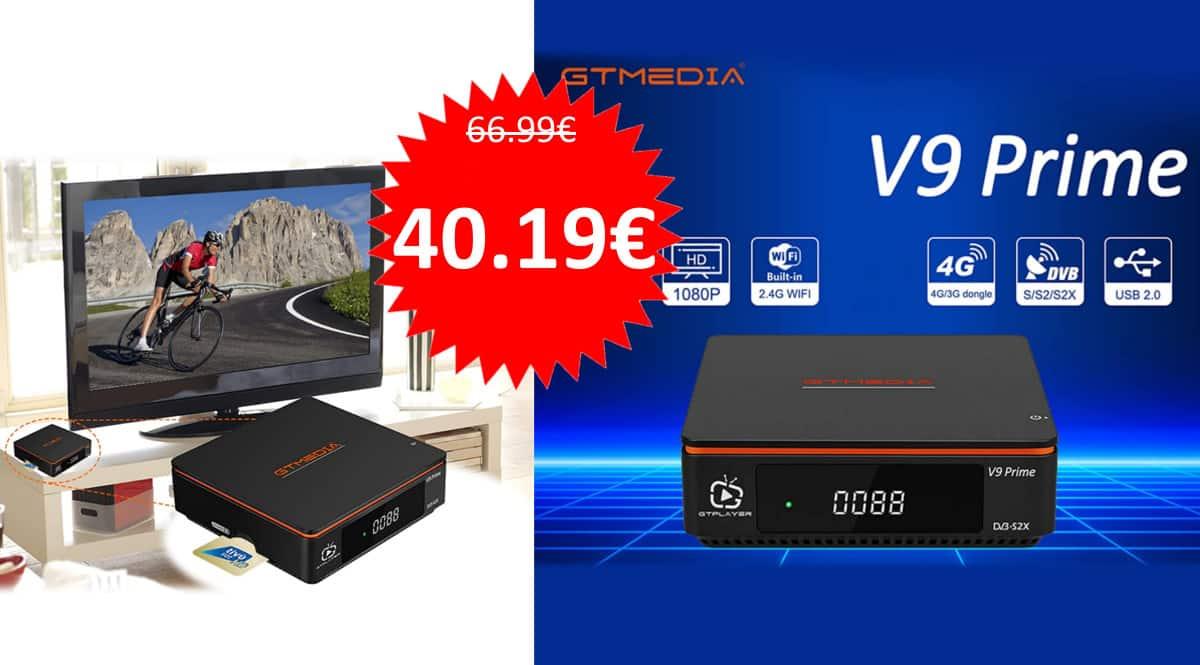 Decodificador GT 9 Media Prime barato. Ofertas en decodificadores, decodificadores baratos, chollo
