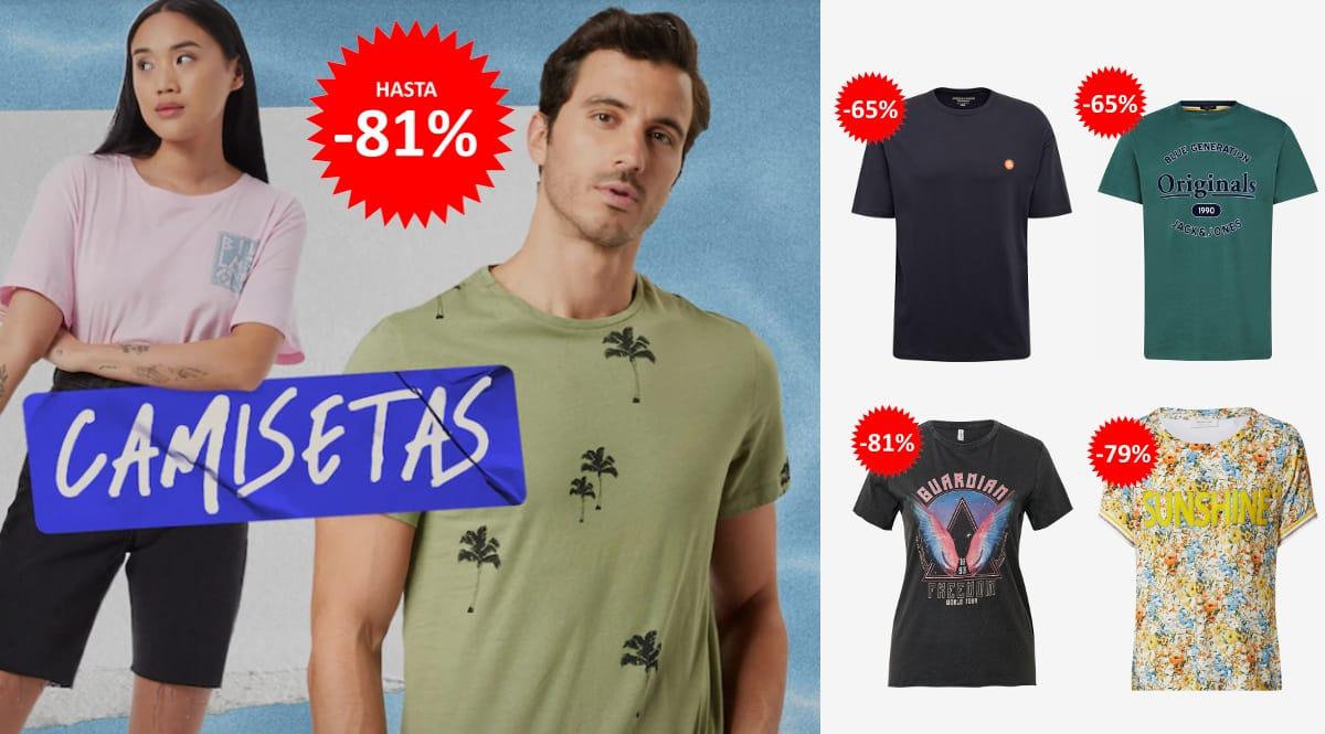 Descuento EXTRA camisetas About You, ropa de marca barata, ofertas en camisetas chollo