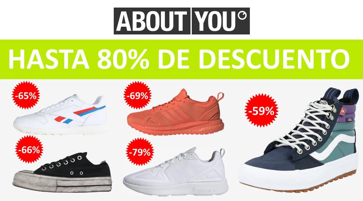 Descuento EXTRA zapatillas About You, calzado de marca barato, ofertas en zapatillas chollo
