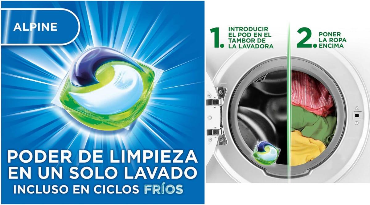 Detergente en cápsulas Ariel Pods Alpine barato. Ofertas en supermercado, chollo