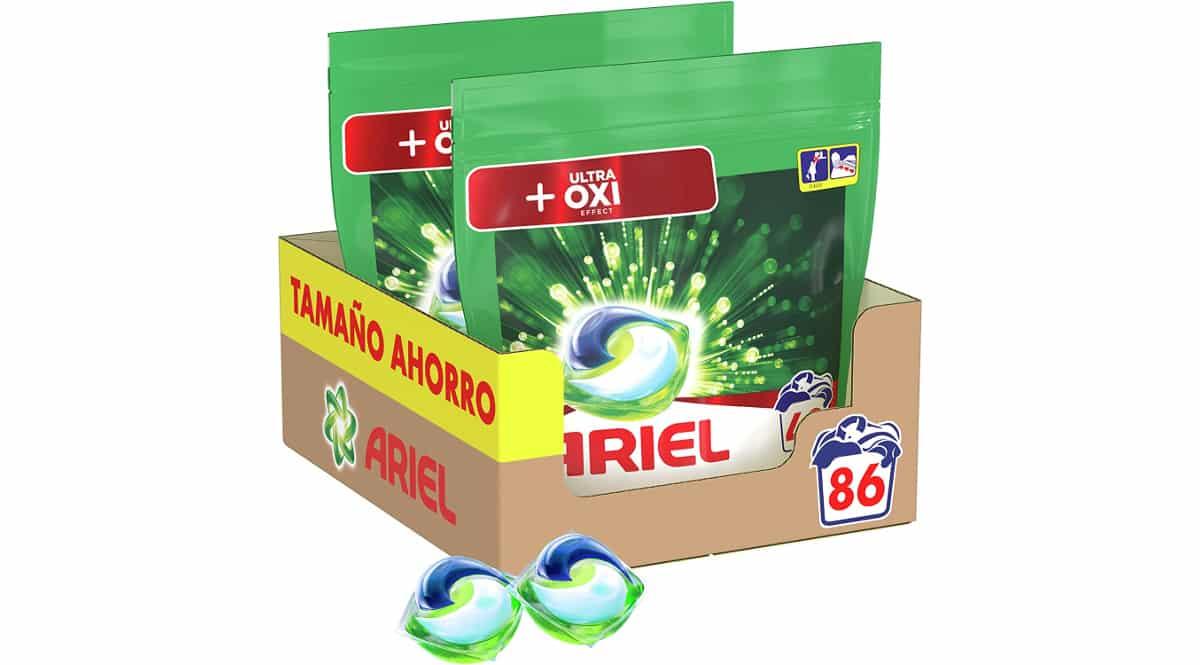 Detergente en cápsulas Ariel Pods Oxy barato, detergente de marca barato, ofertas supermercado, chollo