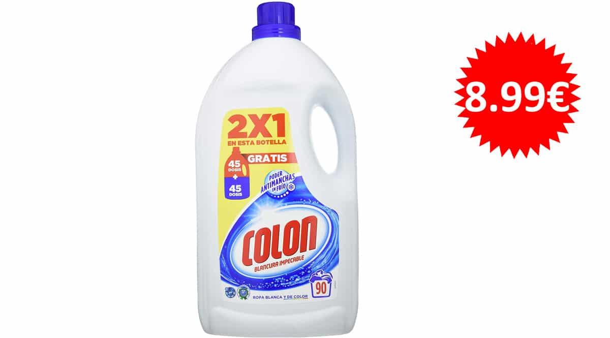 Detergente para la ropa Colon blancura impecable barato, detergentes baratos, ofertas supermercado, chollo