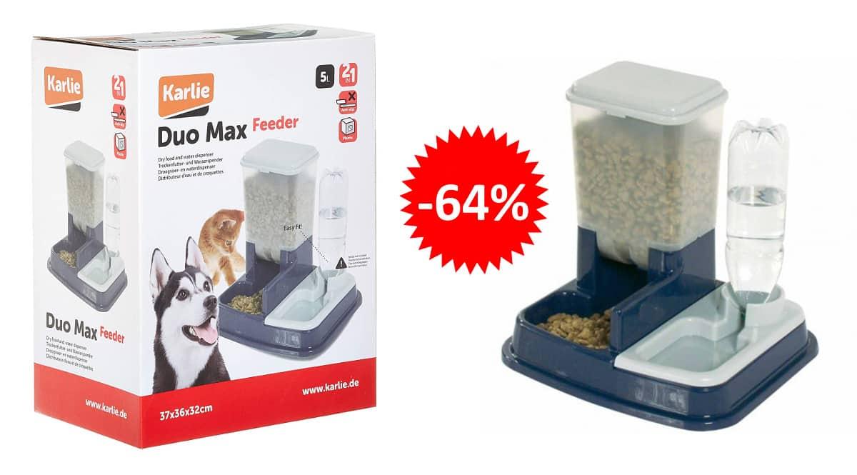 Dispensador de agua y comida para mascotas Karlie barato, productos para mascotas baratos, ofertas para mascotas chollo