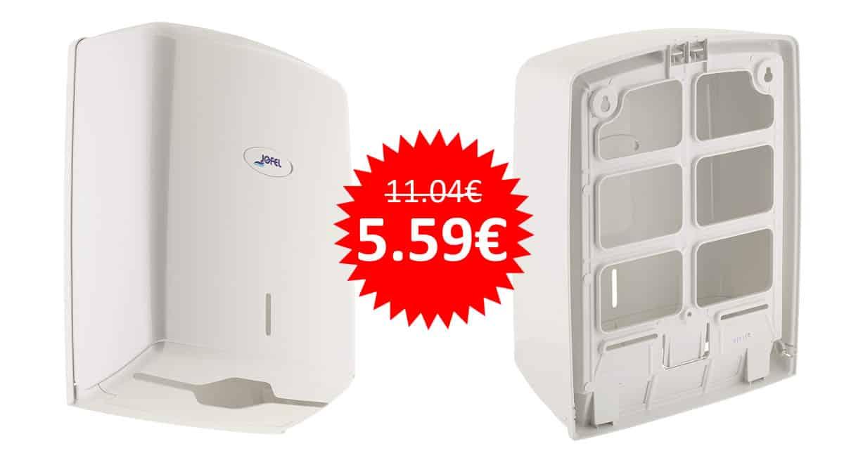 ¡Precio mínimo histórico! Dispensador de toallas formato zig-zag Jofel AH37000 sólo 5.59 euros. Mitad de precio.