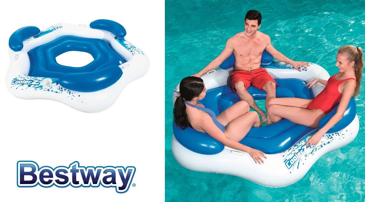 Flotador Bestway Isla Hinchable para 3 barato, flotadores de marca baratos, ofertas en juguetes, chollo7
