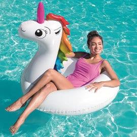 Flotador de unicorcio Bestway barato, juguetes baratos, ofertas para el jardín
