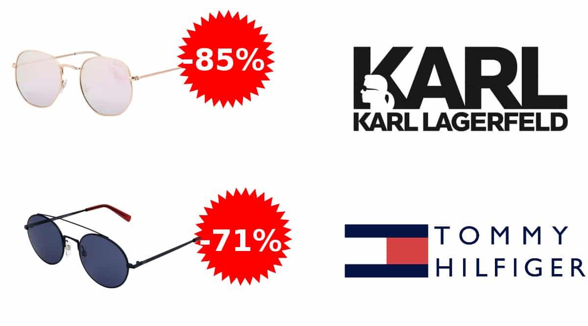 Gafas de sol Tommy Hilfiger, Karl Lagerfeld baratas, gafas de sol de marca baratas, ofertas en gafas, chollo