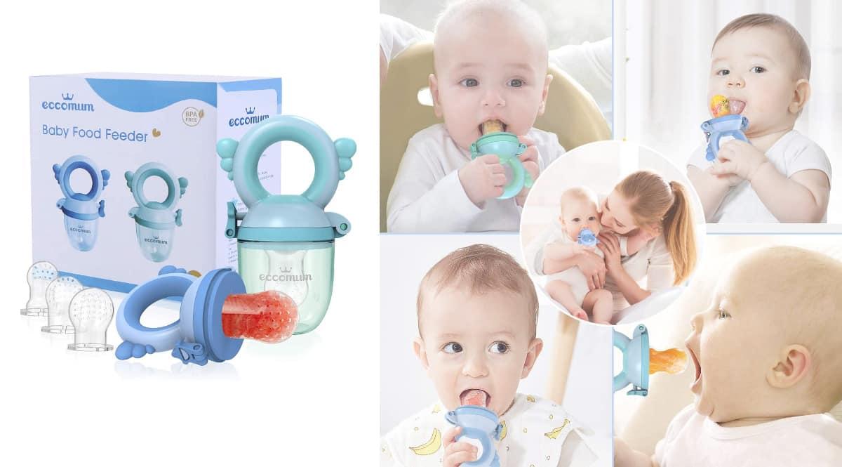 Juego de chupetes de alimentación antiahogo para bebé Eccomun barato, artículos para bebé de marca baratos, ofertas para niños, chollo